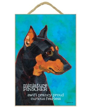 Miniature Pinscher 7x10 Ursula Dodge