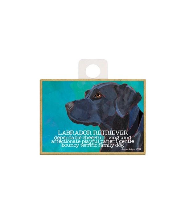 Black Labrador Retriever Magnet