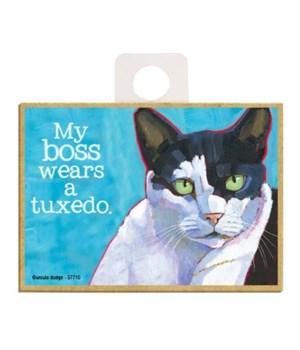 Cat - My boss wears a tuxedo Magnet