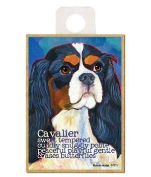 Cavalier (black & white) Magnet