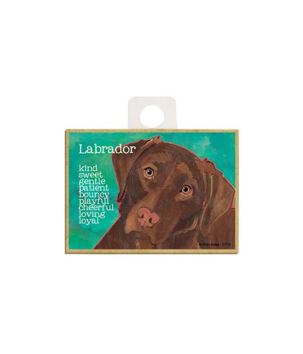 Chocolate Labrador Retriever Magnet