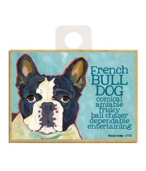 French Bulldog (black and white) Magnet
