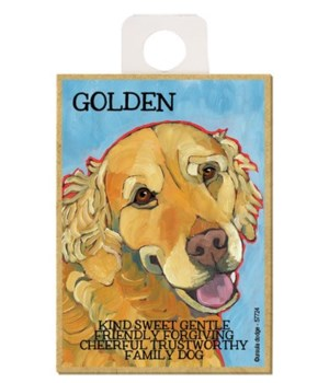 Golden (blue bkgd) Magnet