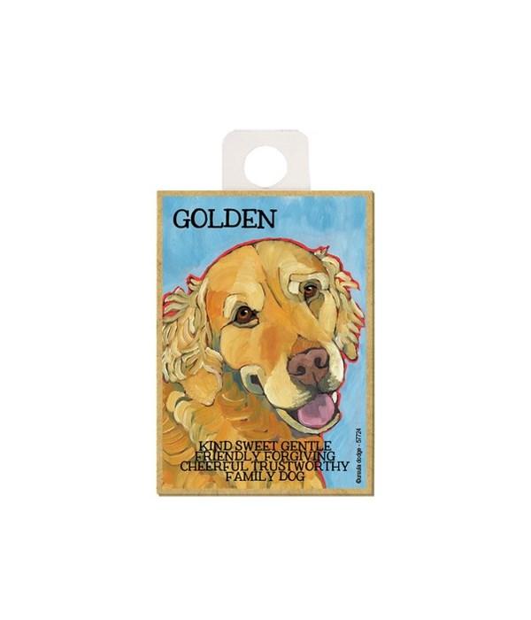 Golden (blue bkgd) Magnet