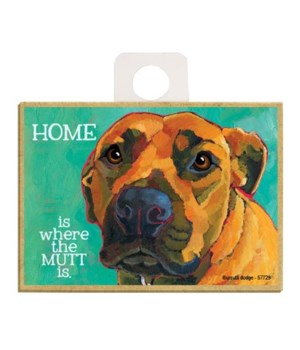 Mutt - Home is where the mutt is Magnet