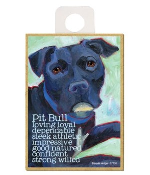 Pitbull (black) Magnet
