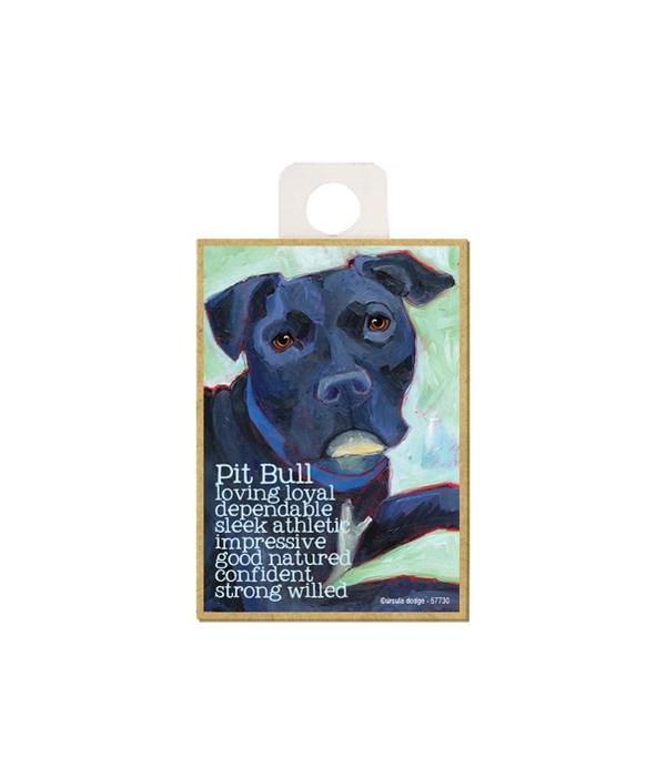 Pitbull (black) Magnet