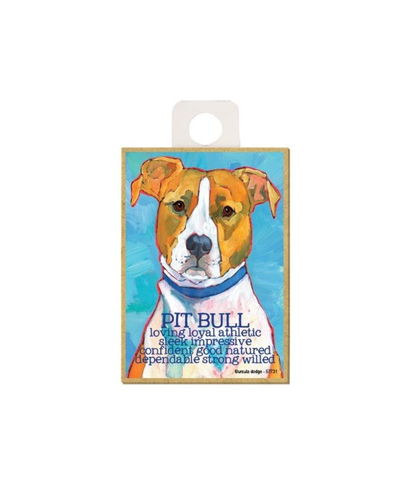 Pitbull (red and white) Magnet