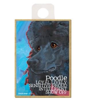 Poodle (black) Magnet