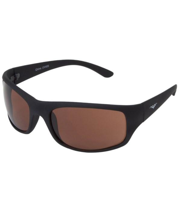 VertX PC Sports Wrap Sunglasses w/ Rubber Finish