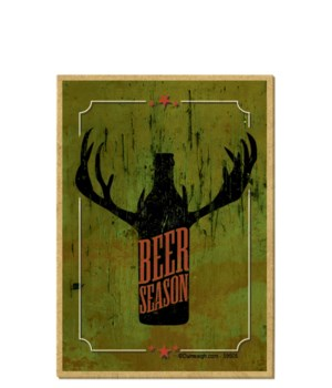 Beer season (beer bottle silhouette with