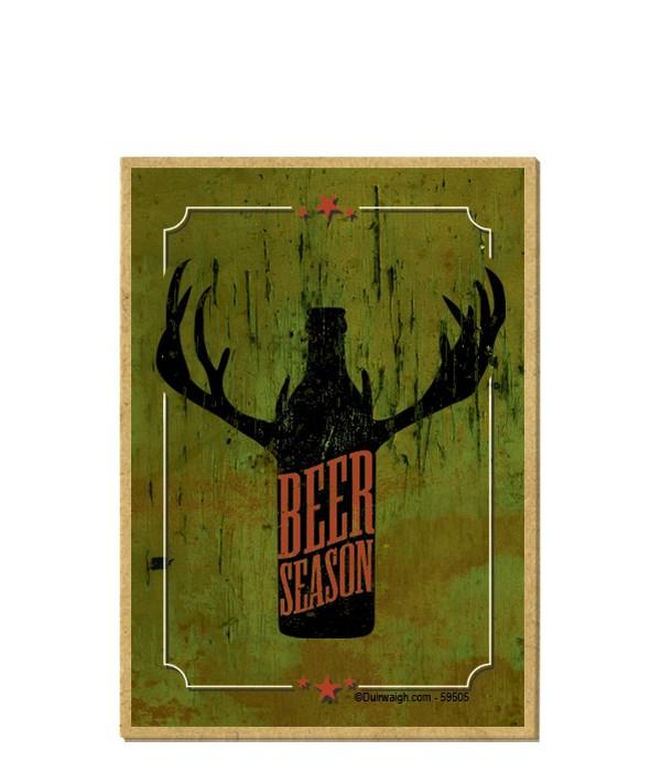 Beer season (beer bottle silhouette with