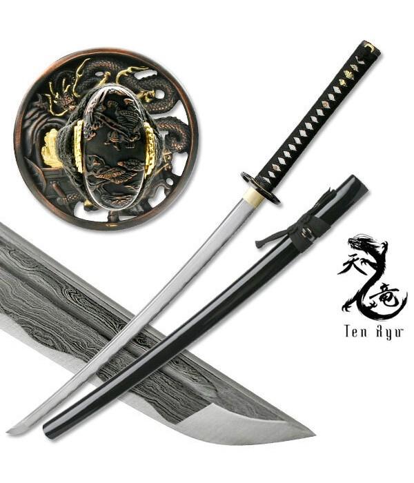 """Ten Ryu Hand Forged Samurai Sword 40"""""""