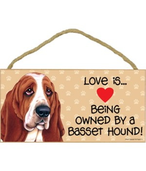 Basset Hound Love Is.. 5x10 plaque