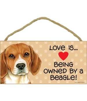 Beagle Love Is.. 5x10 plaque