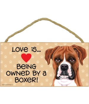 Boxer Love Is dropped.. 5x10 plaque