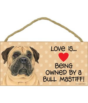 Bull Mastiff Love Is 5x10 Plaque
