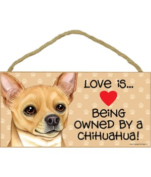 Chihuahua Tan Love Is.. 5x10 plaque