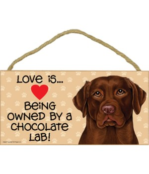 Chocolate Lab Love Is.. 5x10 plaque