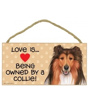 Collie Love Is.. 5x10 plaque
