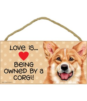 Corgi Love Is.. 5x10 plaque