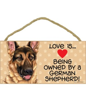 German Shepherd Love Is.. 5x10 plaque