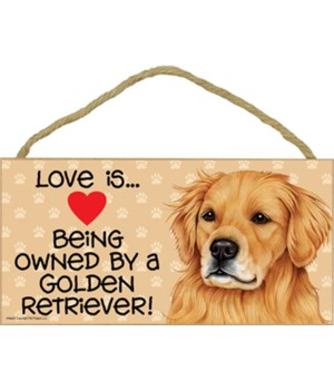 Golden Retriever Love Is.. 5x10 plaque