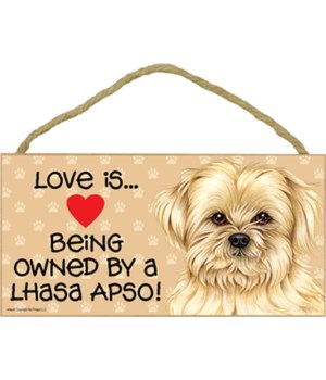 Lhasa Apso Love Is.. 5x10 plaque