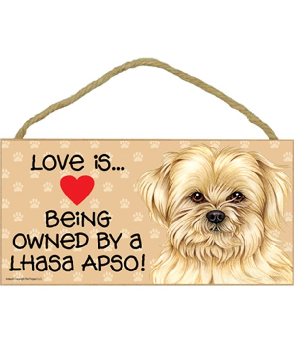 Lhasa Apso Love Is.. 5x10 plaque