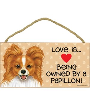 Papillon reddish-brown Love Is.. 5x10 pl