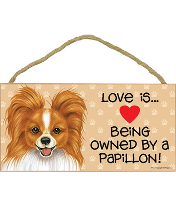 Papillon reddish-brown Love Is.. 5x10 pl