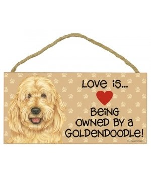 Goldendoodle Love Is.. 5x10 plaque