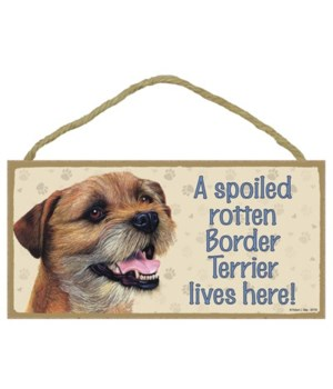 Border Terrier Spoiled 5x10