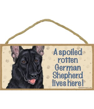 German Shepherd (Black) Spoiled 5x10