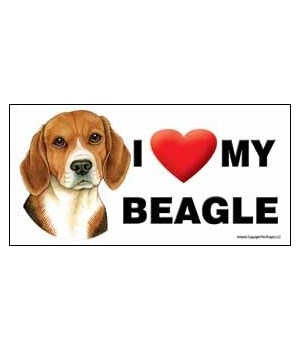 I (heart) my Beagle 4x8 Car Magnet