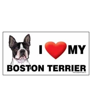 I (heart) my Boston Terrier 4x8 Car Magn