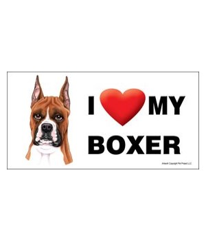 I (heart) my Boxer 4x8 Car Magnet