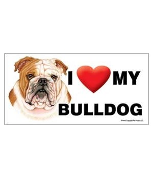 I (heart) my Bulldog 4x8 Car Magnet