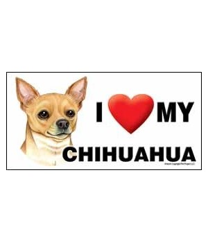 I (heart) my Chihuahua (tan) 4x8 Car Mag