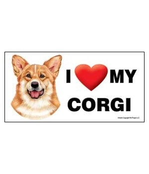 I (heart) my Corgi 4x8 Car Magnet