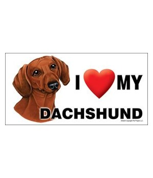I (heart) my Dachshund (Brown) 4x8 Car M