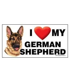 I (heart) my German Shepherd 4x8 Car Mag