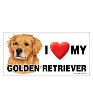 I (heart) my Golden Retriever 4x8 Car Ma