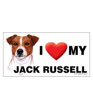 I (heart) my Jack Russell 4x8 Car Magnet