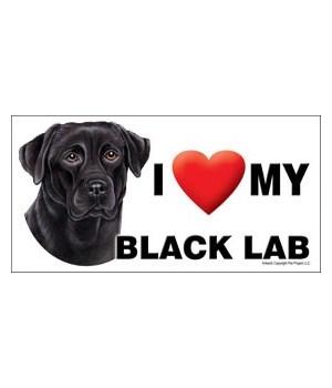 I (heart) my Black Lab 4x8 Car Magnet