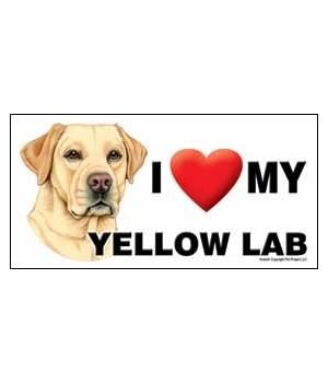 I (heart) my Yellow Lab 4x8 Car Magnet