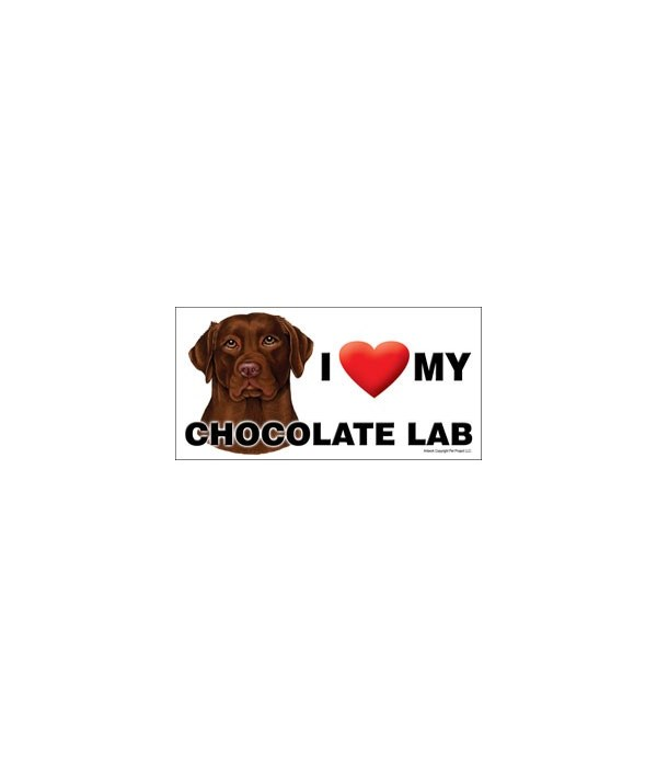 I (heart) my Chocolate Lab 4x8 Car Magne