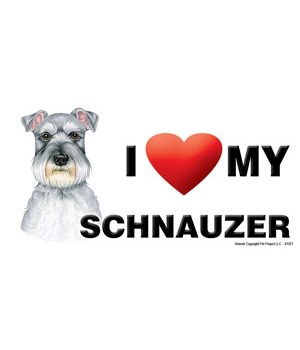 I (heart) my Schnauzer 4x8 Car Magnet