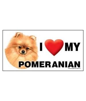 I (heart) my Pomeranian 4x8 Car Magnet