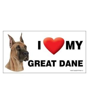 I (heart) my Great Dane 4x8 Car Magnet